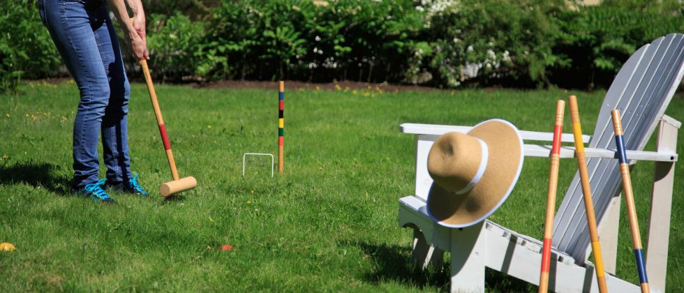 A game of croquet played at Captain Nickels Inn