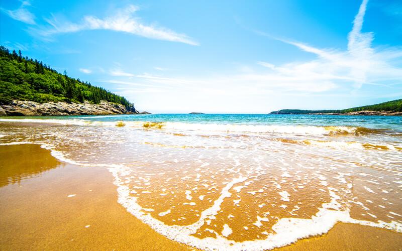 San Beach in Acadia National Park Maine