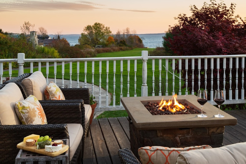 Maine Bed and Breakfast Fire pit