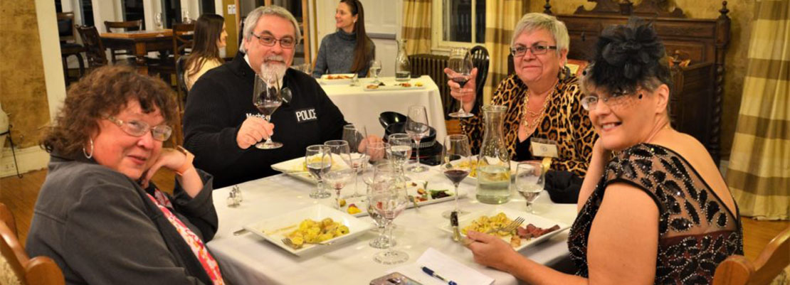 Guests at the Captain Nickels Inn Murder Mystery Weekend