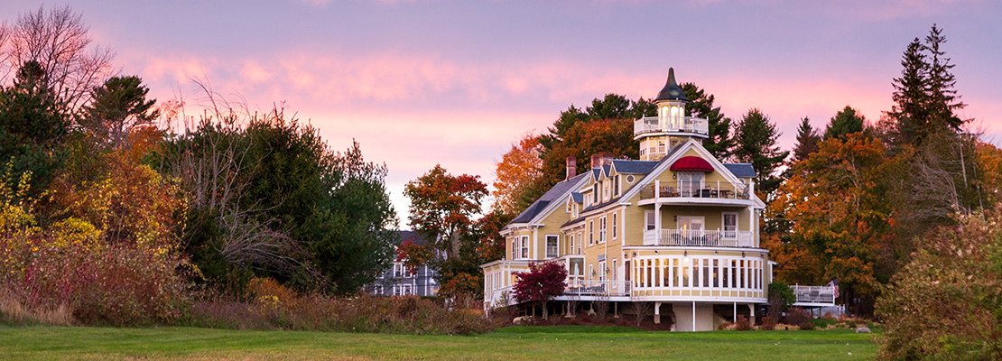 The exterior of our Maine bed and breakfast