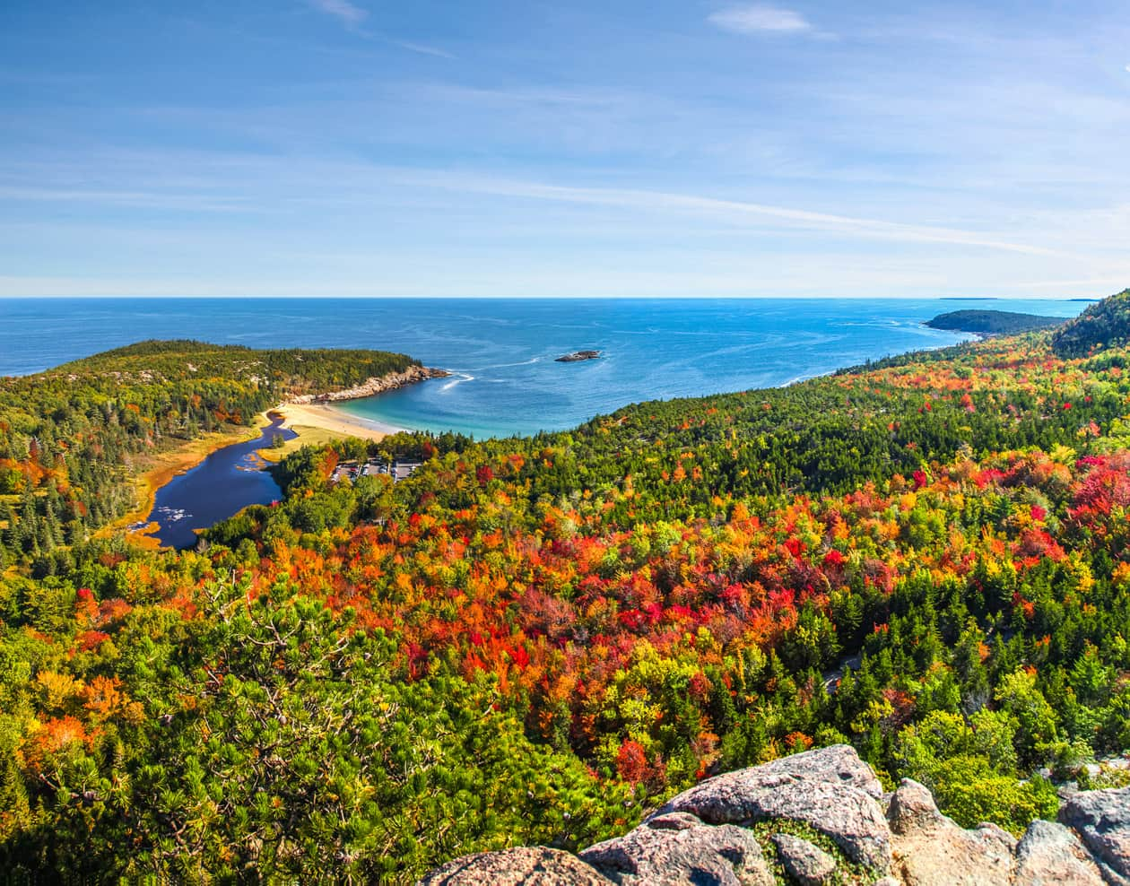 A scenic overlook at Acadia National Park