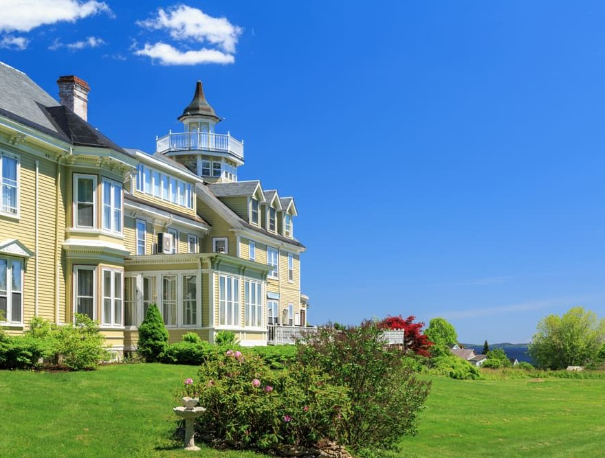 Exterior of our Searsport, Maine bed and breakfast