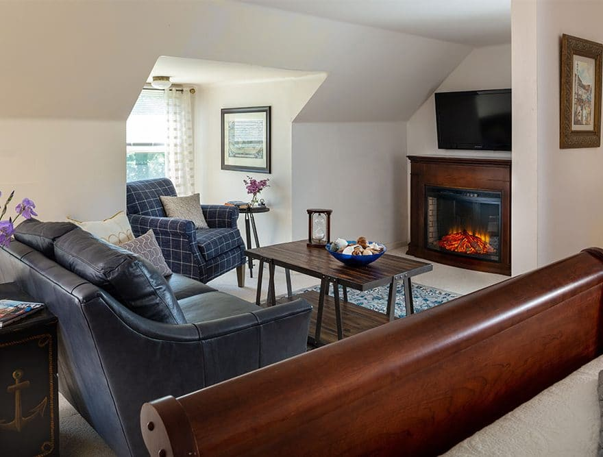 Cozy guest room at our Penobscot Bay bed and breakfast