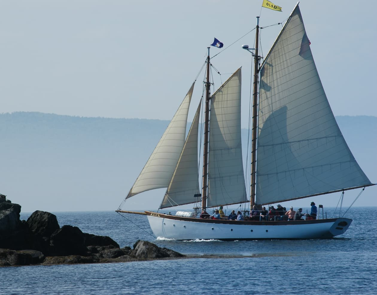 Schooner Olad sailing off the coast of Maine