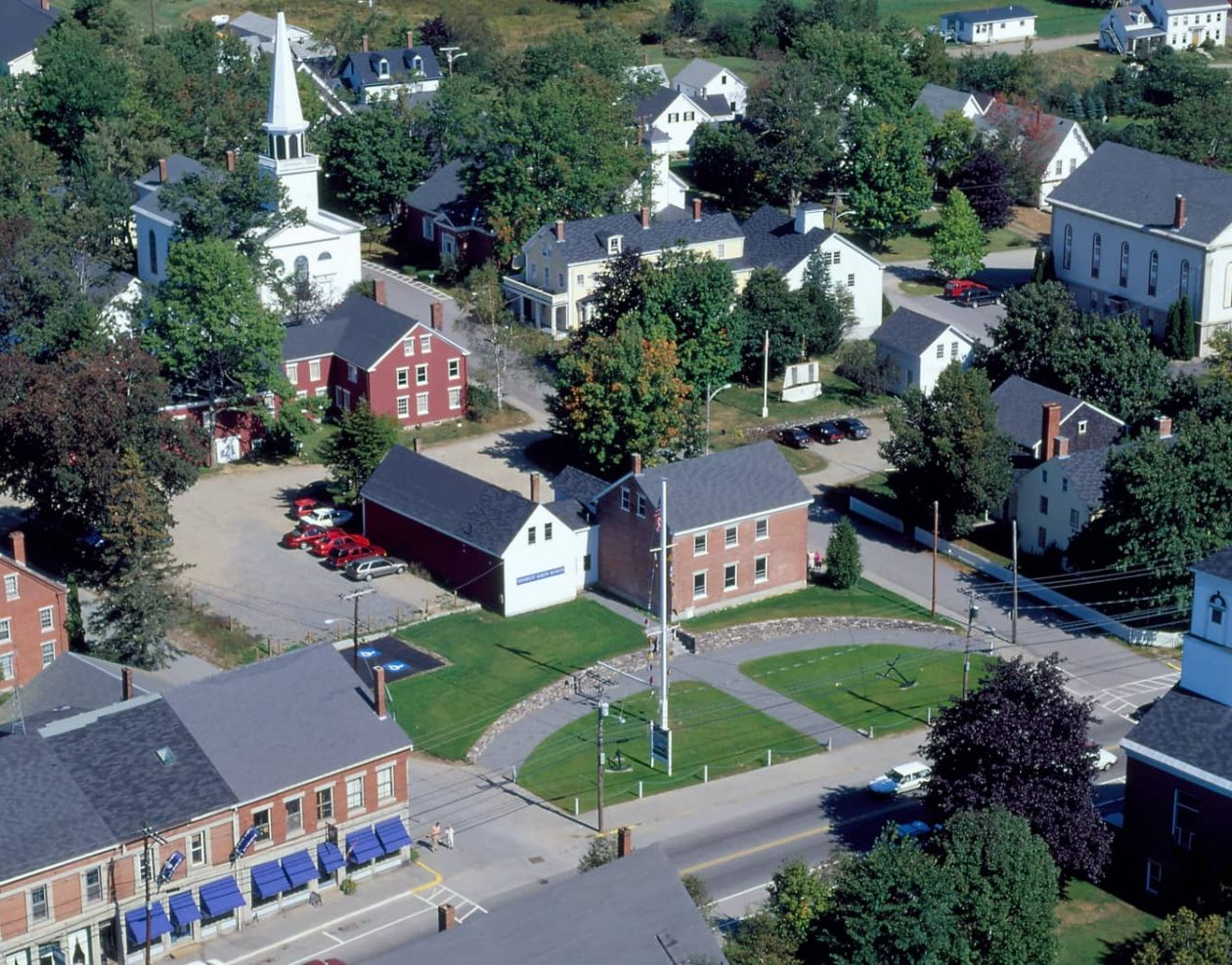 Aerial view of Searsport Maine