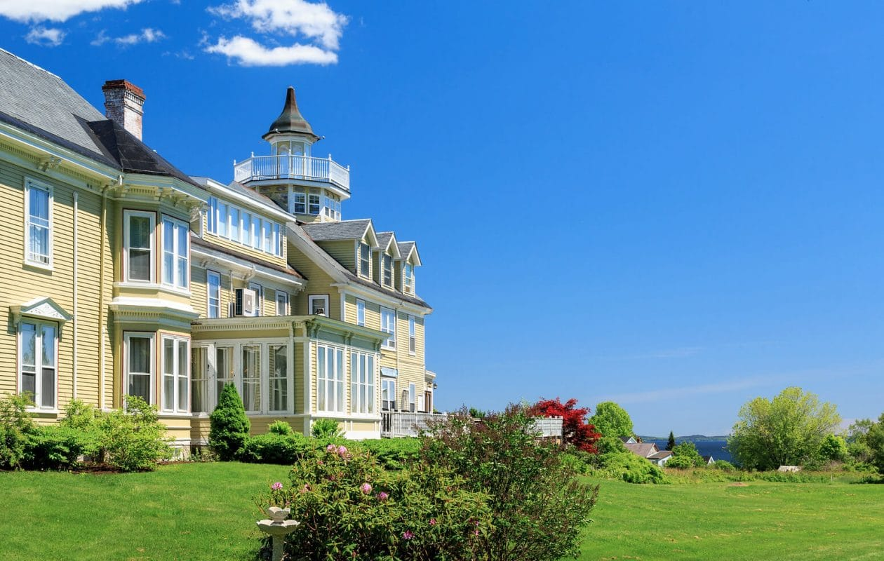 Victorian inn with ocean view