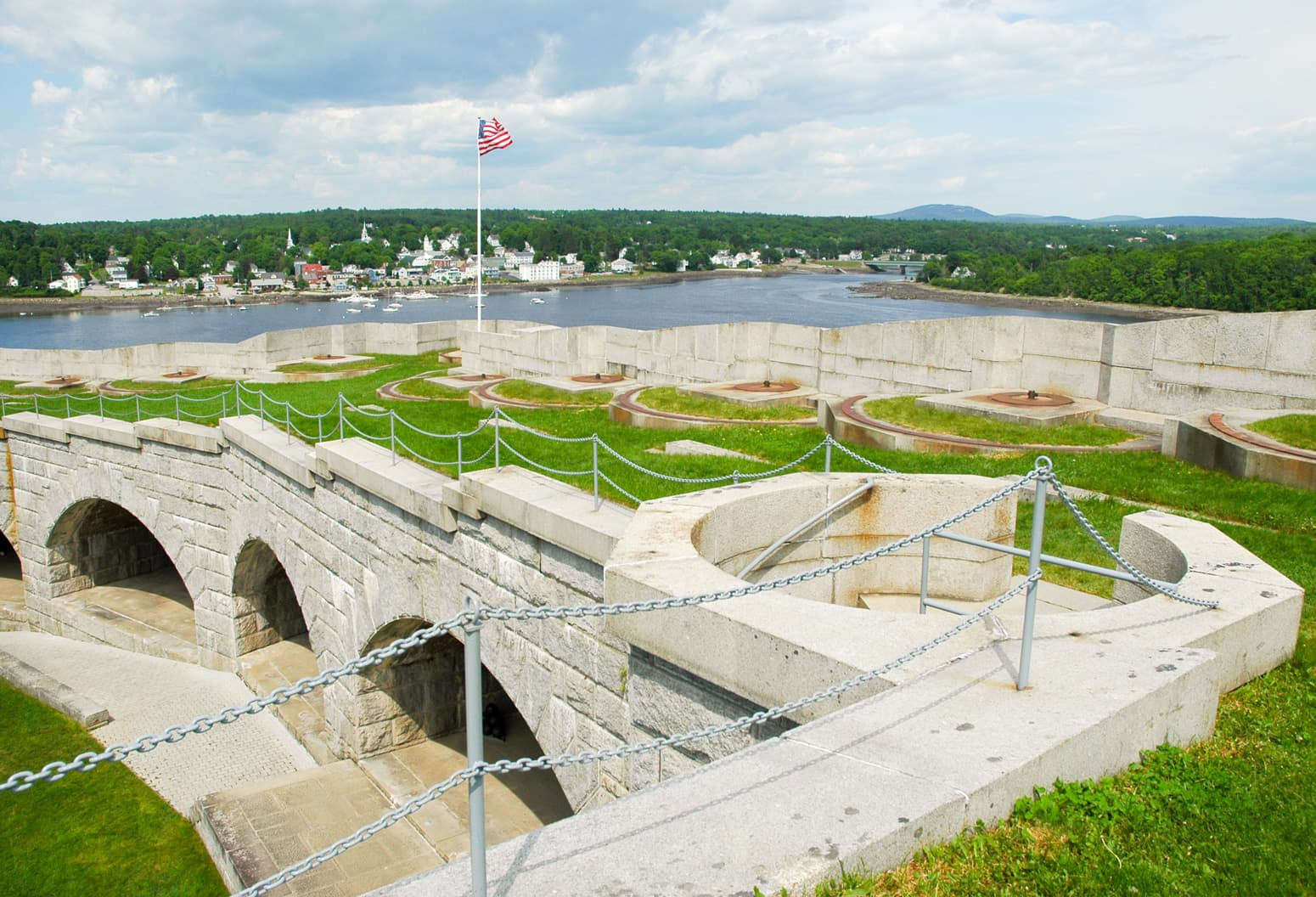 Concrete structure at Fort Knox, Maine