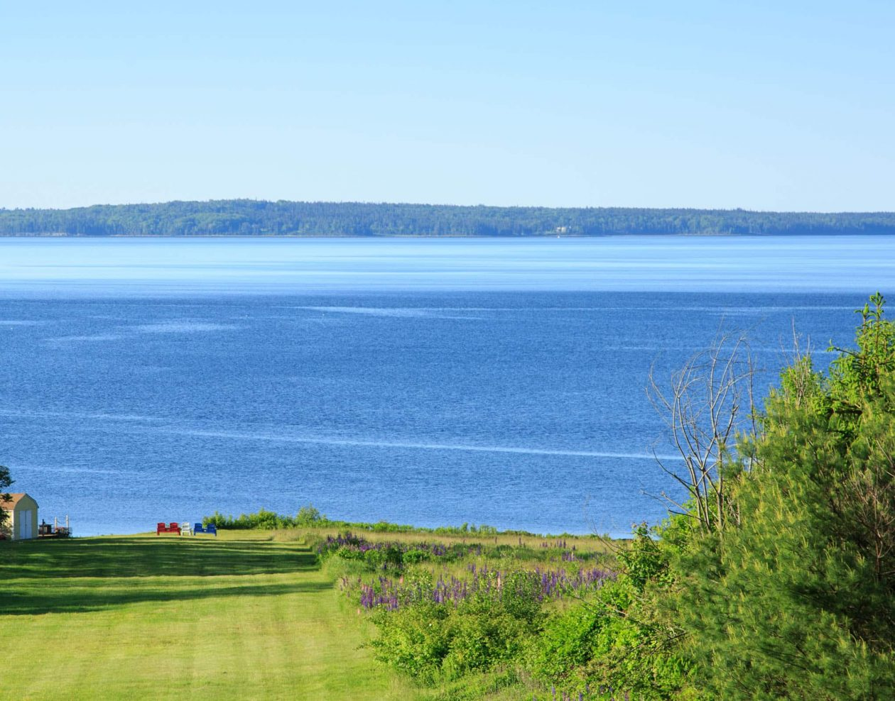 View of the coast of Maine from the Portola at Captain Nickels Inn