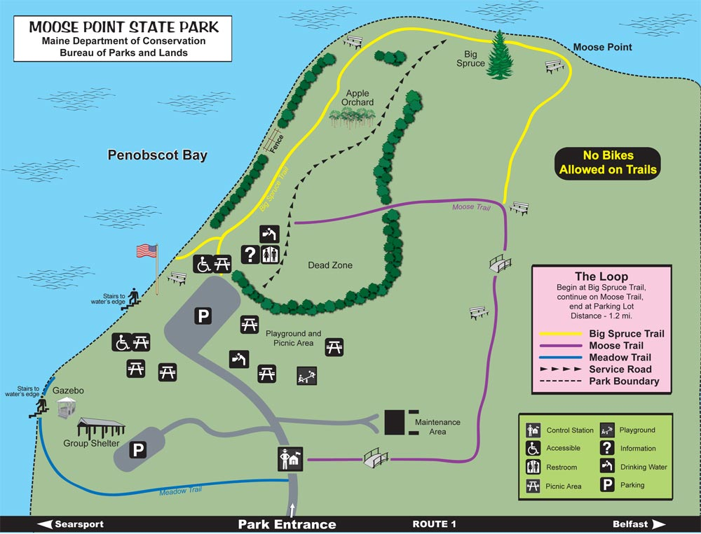 Moose Point State Park Map
