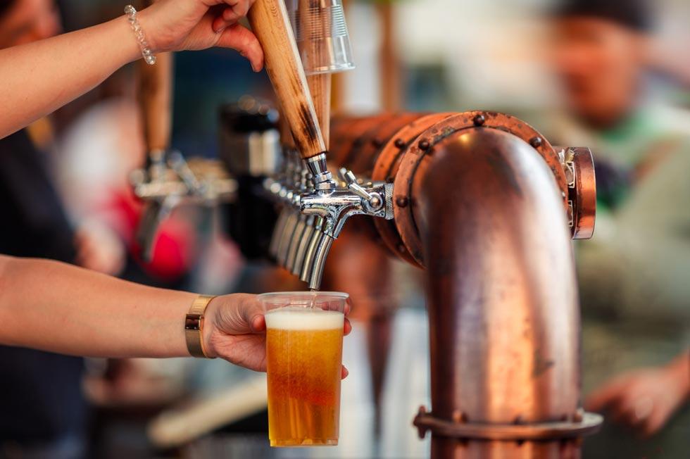Maine Breweries Craft beer on tap