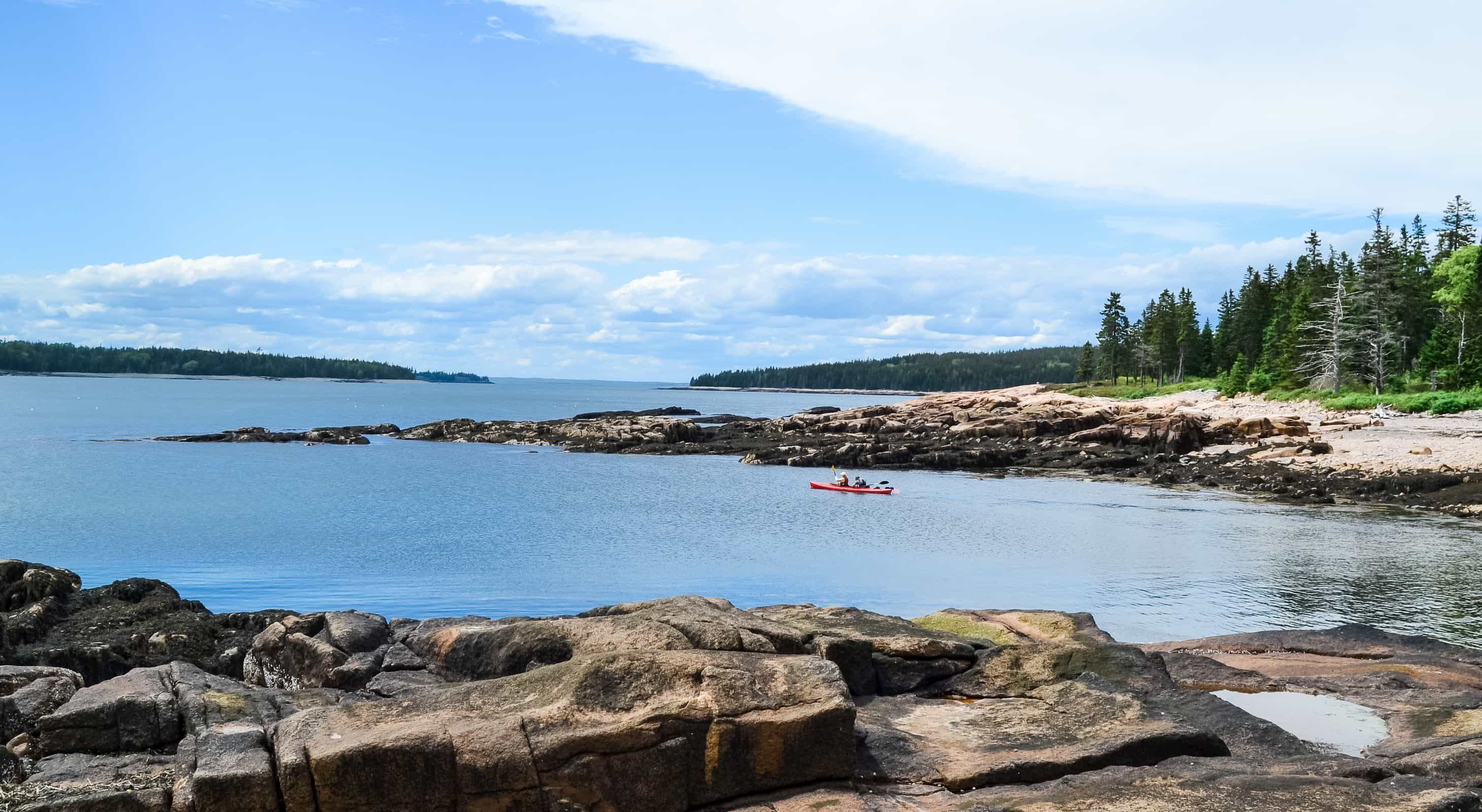 Kayaking off Schoodic Peninsula