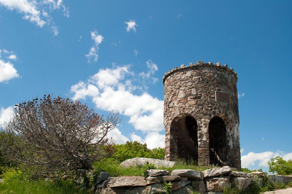stone tower Mount Battie