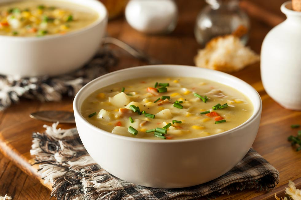 Best Maine Restaurants corn chowder