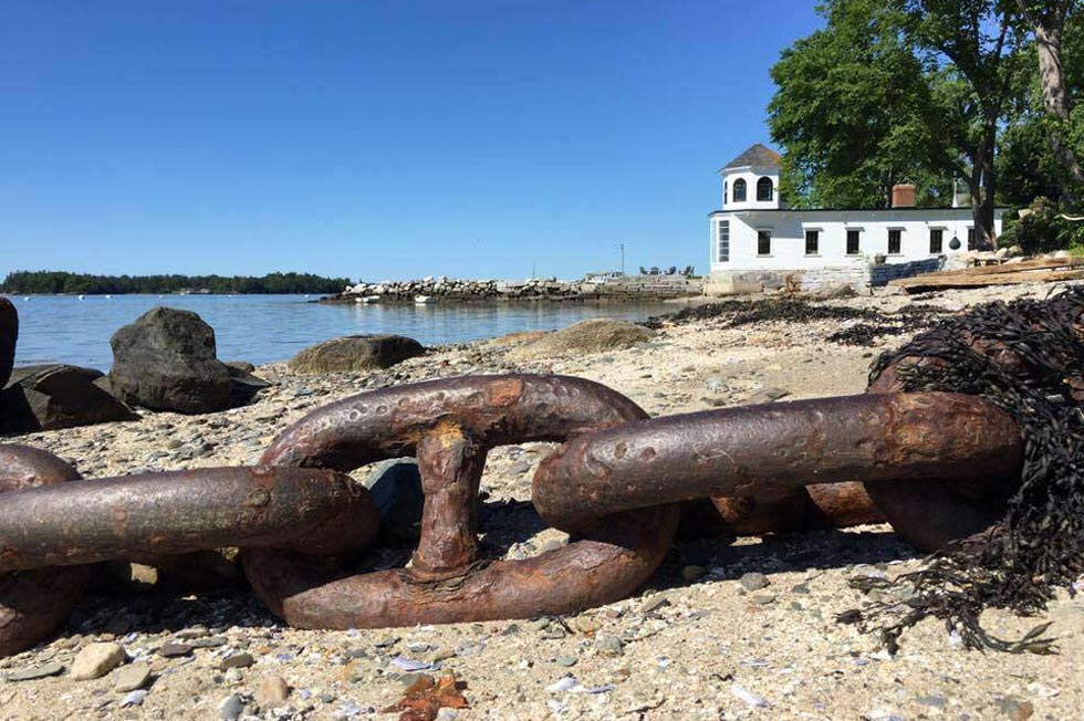 beach in Castine Maine
