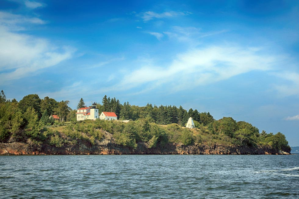 Fort Point State Park from the water