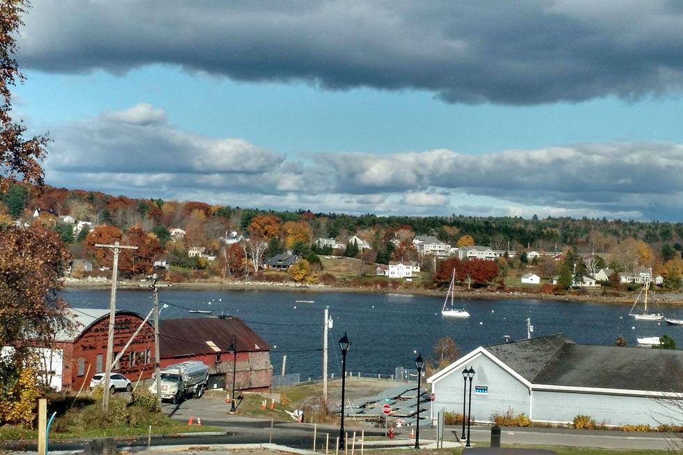 Belfast Maine harbor