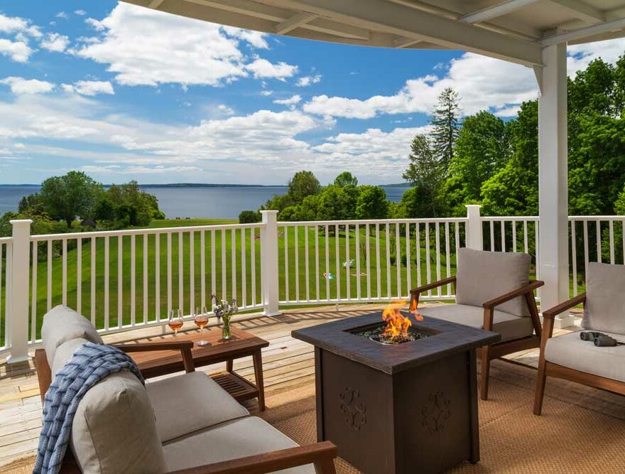 Views from a room balcony at our Penobscot Bay B&B