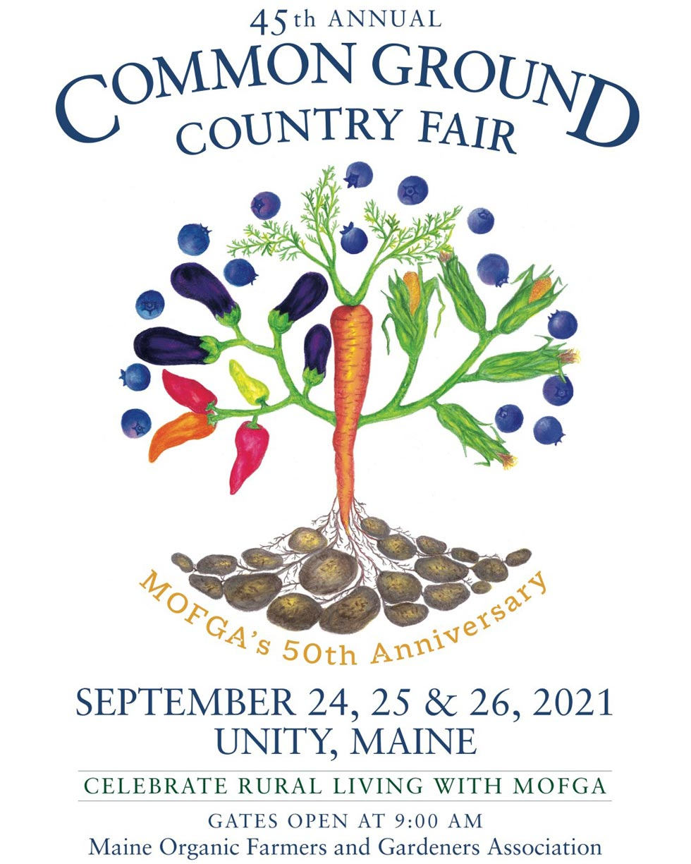 Common Ground Country Fair 2021 poster