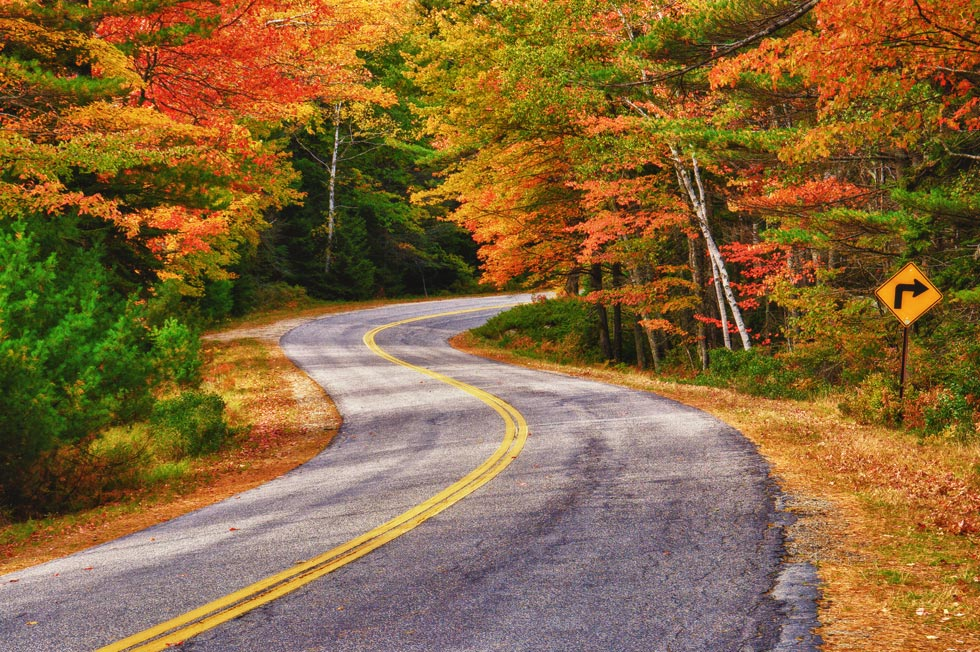 Fall in Maine fall foliage drives